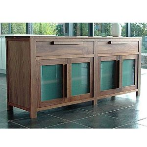 Indoor Mahogany Toppe Glass sideboard