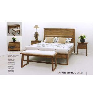 avani bedroom set mahogany
