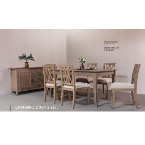 camarro dining set indoor mahogany