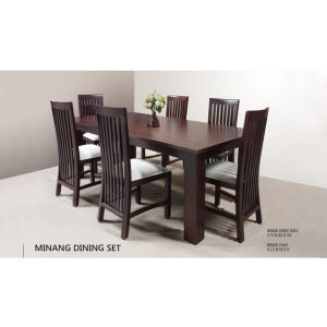 Minang Dining Set Indoor Mahogany