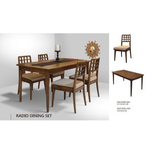 Radio dining Set Indoor mahogany