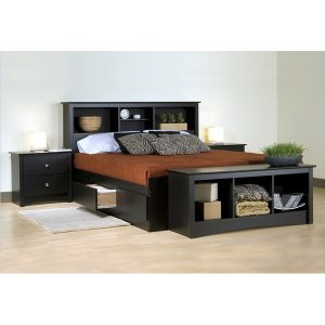 Amalia Bed Set from mahogany wood with modern design fix