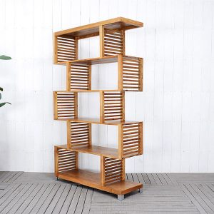 Indoor Mahogany Dili Curly Bookcase fix