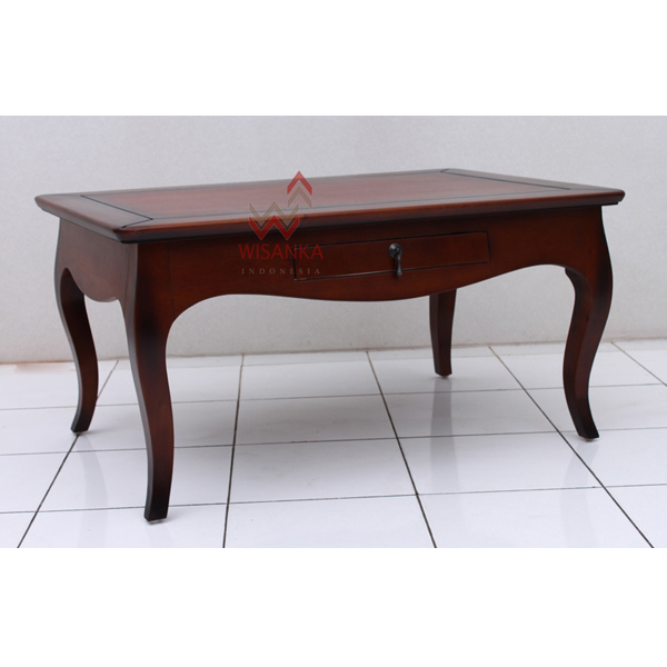 Indoor mahogany Luna Coffee Table