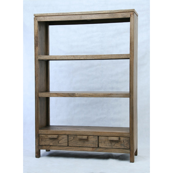 Indoor mahogany Toppe bookrack 3 drawers