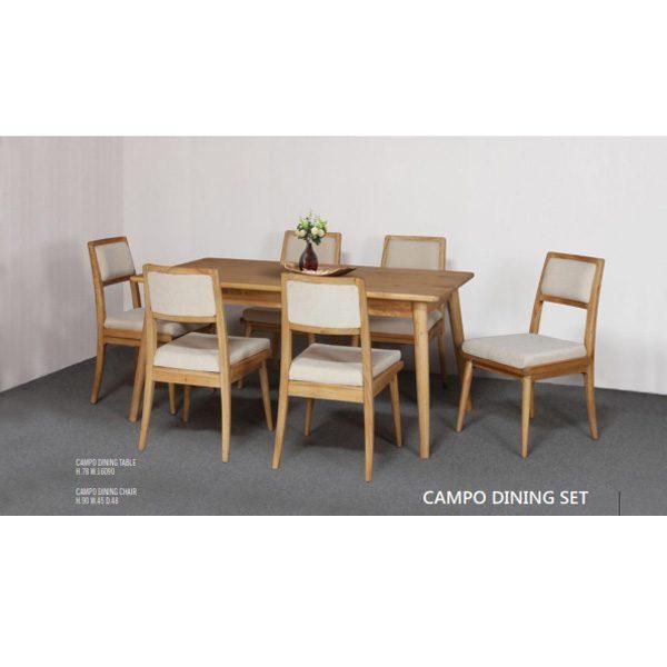 campo dining set indoor mahogany