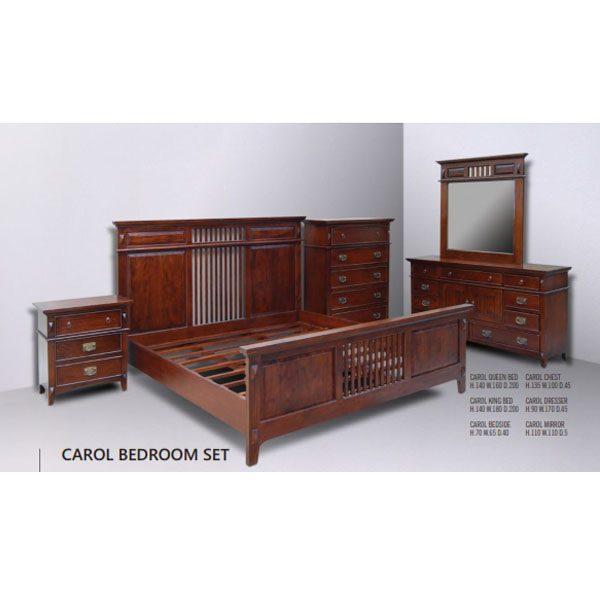 carol bedroom set indoor mahogany