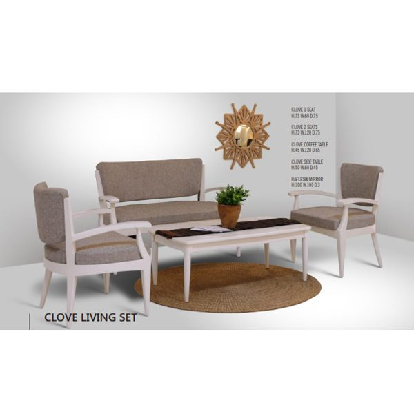 Indoor Mahogany Clove Living Set