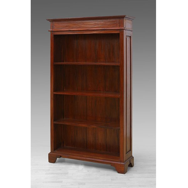 indoor mahogany crystal bookcase