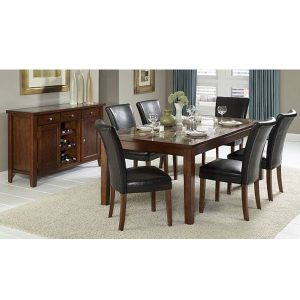 crystal dining set fix indoor mahogany