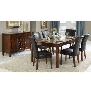 crystal dining set fix indoor mahogany