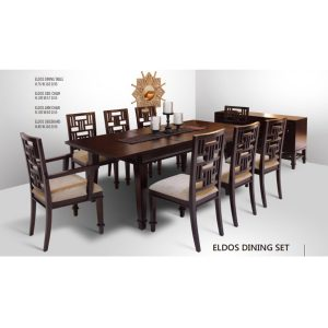 Eldos Dining Set Indoor Mahogany