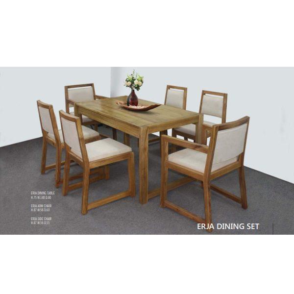 Erja Dining Set indoor mahogany