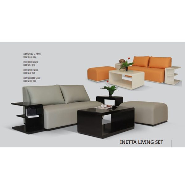 Indoor Mahogany Inetta Living Set
