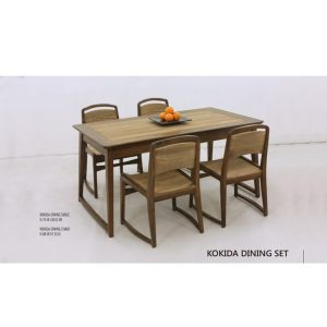 Kokida Dining Set indoor mahogany