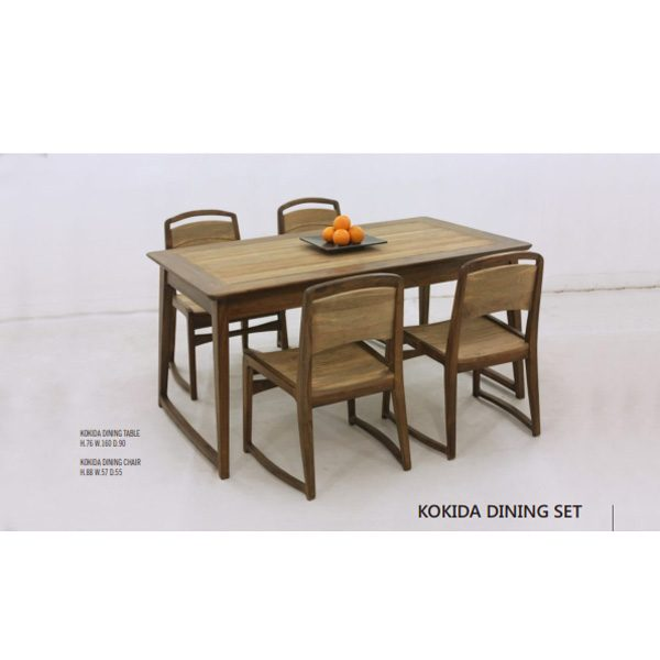 Kokida Dining Set indoor mahogany