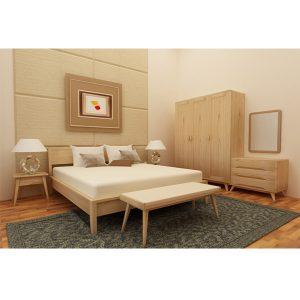 Lotte bedroom set indoor mahogany