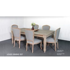 Louis Dining Set Indoor Mahogany