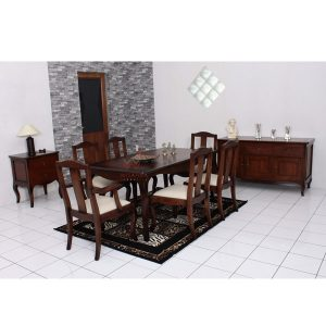 luna dining set fix indoor mahogany
