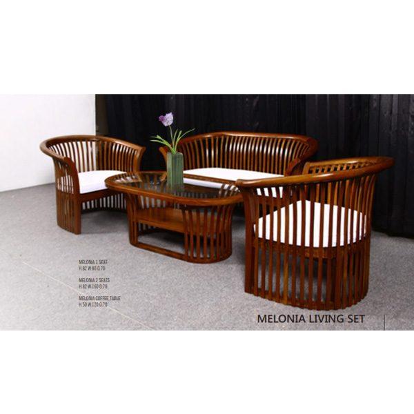 Indoor Mahogany Melonia Living Set
