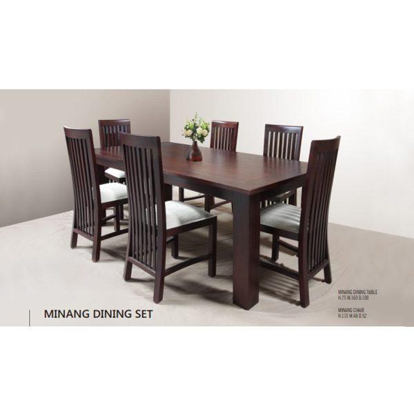 Minang Dining Set Indoor Mahogany