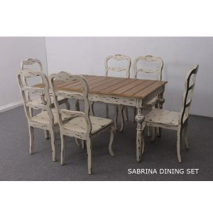 Sabrina Dining Set Indoor Mahogany