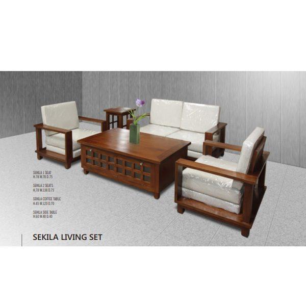 Indoor mahogany Sekila Living Set
