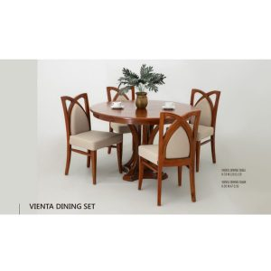 Vienta Dining Set Indoor Mahogany