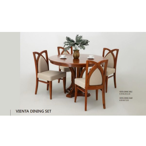 Vienta Dining Set Indoor Mahogany