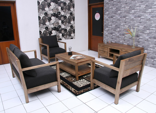 Toppe Living Room Indoor Mahogany Furniture Indonesia
