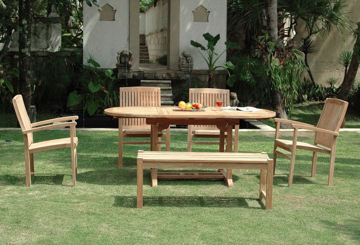 Enjoyable Njs 07 New Java Oval Ext Table With Backless Bench 4Ft Set Ibusinesslaw Wood Chair Design Ideas Ibusinesslaworg