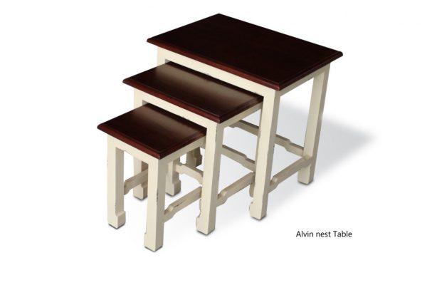 Alvin Nest White Table